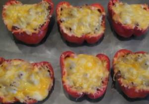 Turkey Stuffed Smoked Peppers
