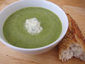 Asparagus Soup with Citrus Herb Crème Fraîche