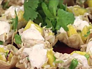 Chicken and Mango Tostadas with Milestone Chardonnay