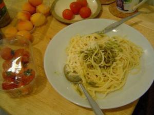 Reduced Fat Pesto Pasta