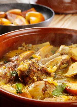 Chicken And Caramelized Persimmon Tagine