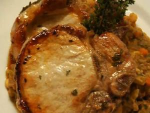 Pork chops and white beans recipe