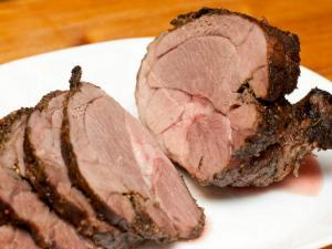 Crusty Rosemary Lamb Microwave Method
