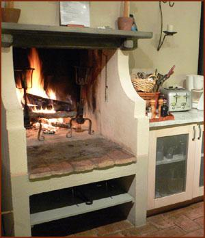 Fireplace can help in emergency food heating