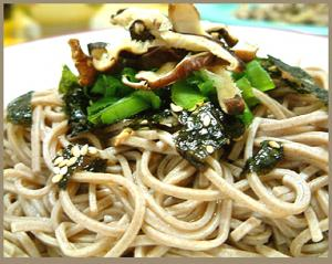 Soba Noodles with Ginger Sauce