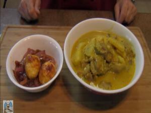 Malaysian Food: Ayam Gulai Lemak Cili Padis with Sambal Goreng Telur