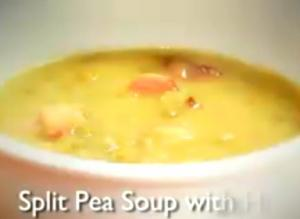 Rich Split Pea Soup with Ham