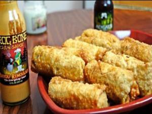 Super Bowl Cajun Shrimp & Andouille Jambalaya Rolls