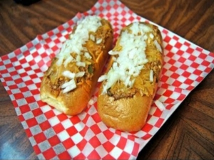"The Infamous ""Rusty Dawg"" Signature Chili Dog"
