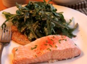 Baked Salmon On Aromatic Spiced Salt