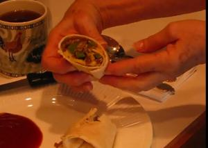 Quick and Easy Mexican-Style Sausage and Eggs Breakfast Wrap