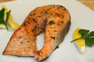 Buttered Salmon with Lemon