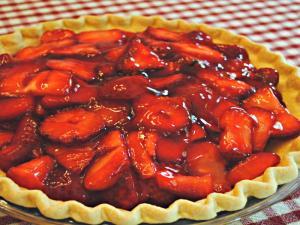 Cream Cheese Strawberry Pie