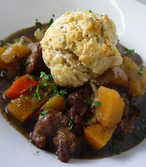 Savory Stew With Dumplings