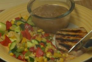 Grilled Southwestern Pork Chops with Vegetables