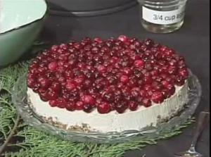Raw Vegan Lemon-Cranberry Holiday Cheesecake Recipe