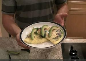 Chicken and Vegetable Omelet