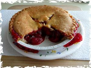 Almond Flavored Cherry Pie
