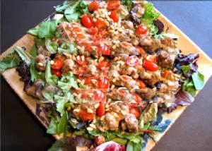 Mushroom Tomato Salad with Cream Cheese