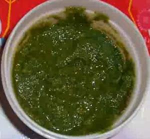 Homemade Garlic Coriander Chutney