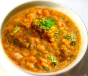 Chana Dal Cooked With Lamb