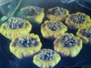 Squash Flowers with Basil and Honey