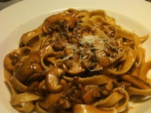 Fettuccine with Artichokes and Mushroom Sauce