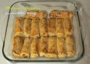 Turkish Sucuklu Milfoy Boregi