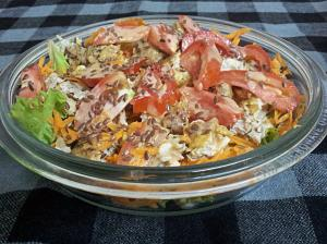 Chicken Kebabs Salad