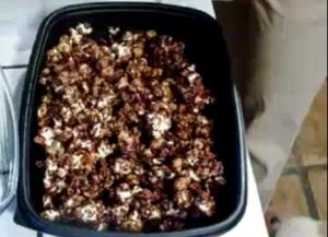 Chocolate Peanut and Popcorn Bars