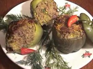 Laotian Stuffed Bell Peppers