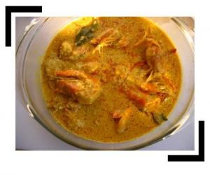 Chingri Malai Curry(Prawn Curry with Coconut milk)