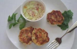Scallops and Crab Cake