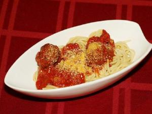 Pasta with Veal and Rosemary Meatballs