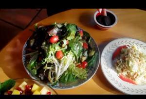 Pineapple Pomegranate and Mango Salad