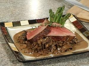 Chateaubriand Beef Tenderloin with Mushrooms