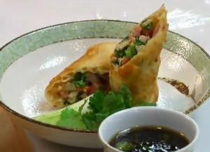 Fish And Ham Eggroll