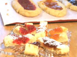 Jam Filled Shortbread Cookies