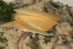 Mushroom Cheese Risotto
