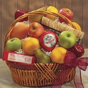 Fruit and Cheese Baskets are the perfect Christmas gifts.