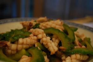 Squid And Green Peppers