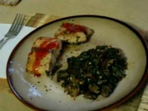 Quick Baked Salmon with Spinach