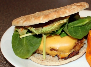 Vegan Mexican Taco Burger