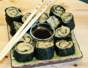 Shrimps Wrapped in Nori Seaweed Sheet