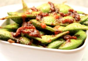 Sweet and Spicy Edamame