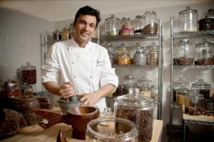 Vikas Khanna in his spice corner