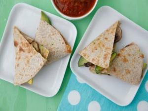 Mushroom Quesadillas - Easy Lunch - Weelicious Featuring Simply