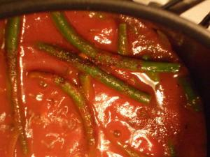 Beans With Fresh Tomato And Fennel Sauce