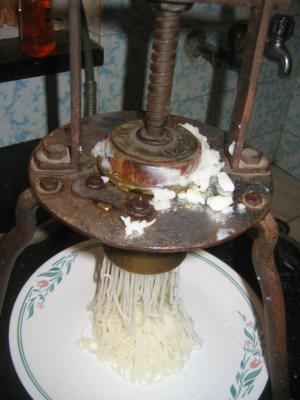 Homemade Rice Sevai (Rice Noodles)