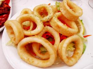 Grilled Squid Rings with Peppers